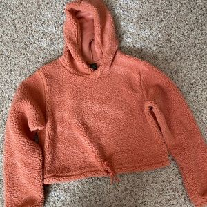 Wild Fable Burnt Orange Cropped Sherpa